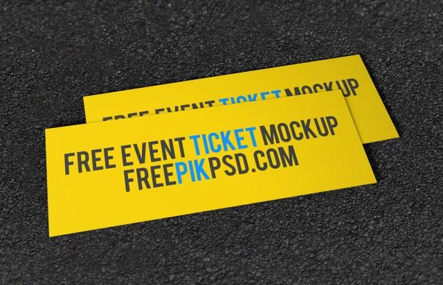 free event ticket mockup free design resources