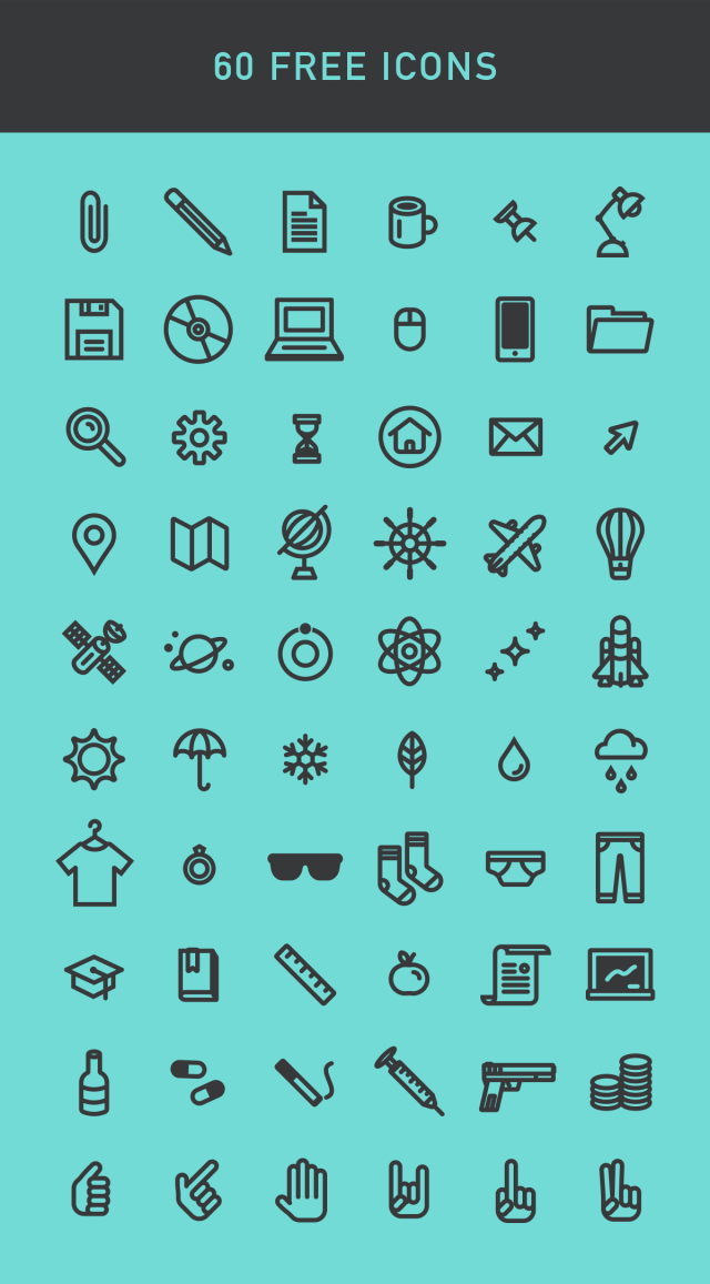 Free Pack 60 Vector Icons