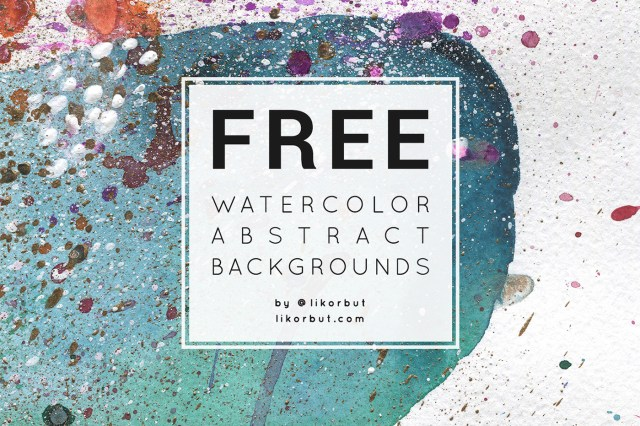 free watercolor abstract background free design resources