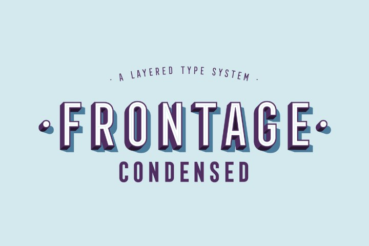 Frontage Condensed Free Demo