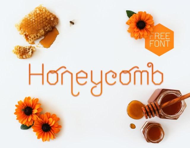 Honeycomb Free Display Font