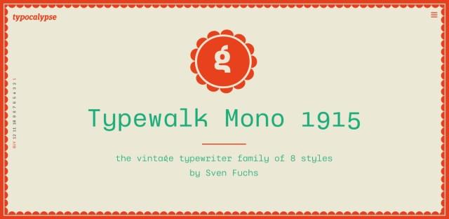 Typewalk Mono 1915 Free Demo