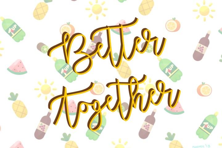 Better Together Free Script Font