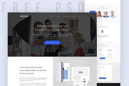 Free StartUp Landing Page