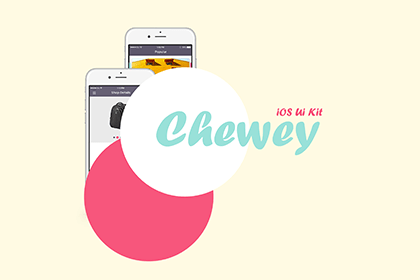 Chewey iOS UI Kit Free Sample