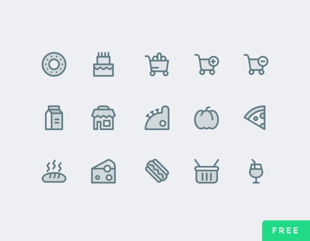 Free Simpleline Supermarket Icons