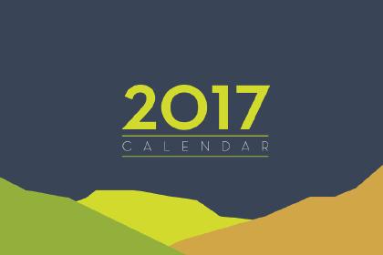 Free Flat 2017 Calendar Template