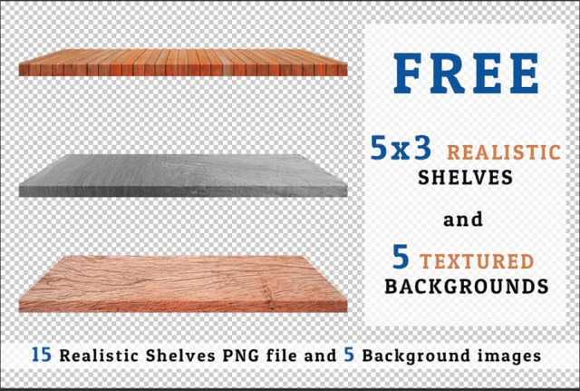 Free Realistic Shelves Background