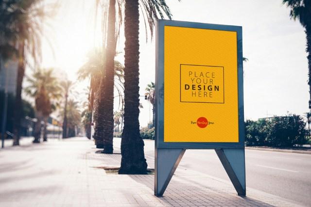 Street Billboard PSD Mockup