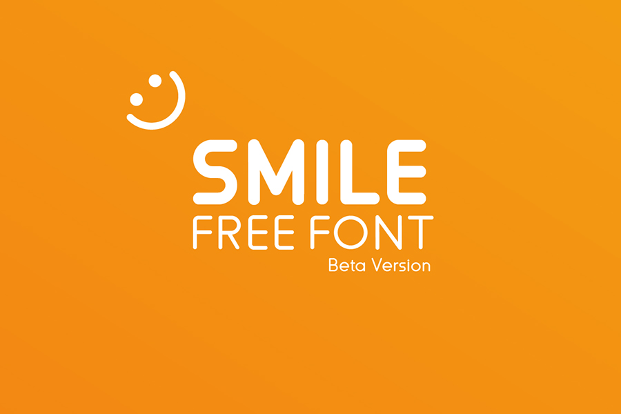 Smile Free Rounded Typeface