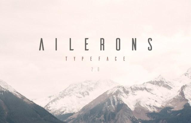 Ailerons Display Free Typeface