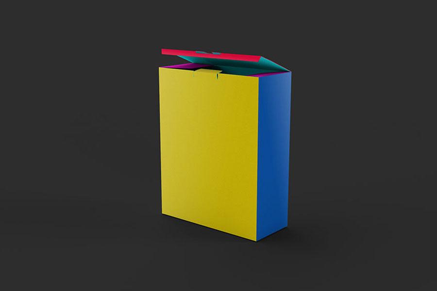 Free Realistic Box PSD Mockup