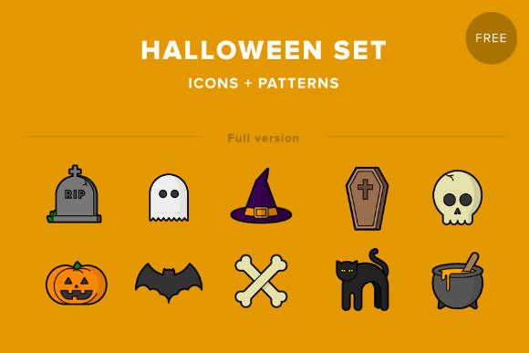 Halloween Icon Pattern Set