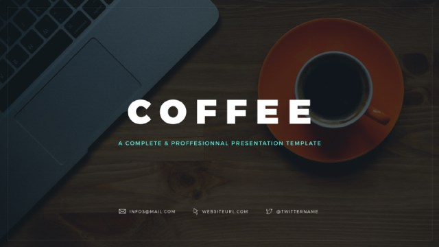 coffee free keynote template free design resources