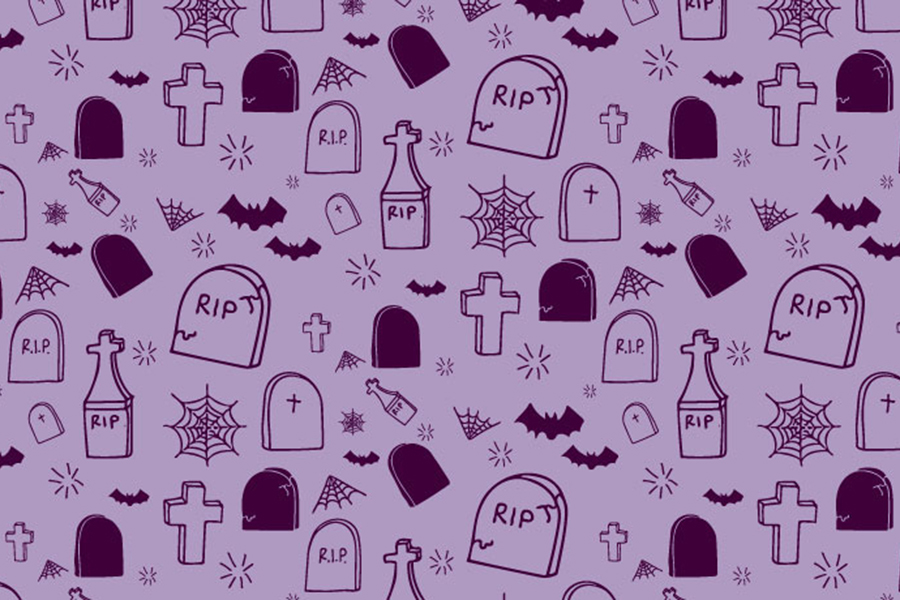 Free Hand drawn Halloween Pattern