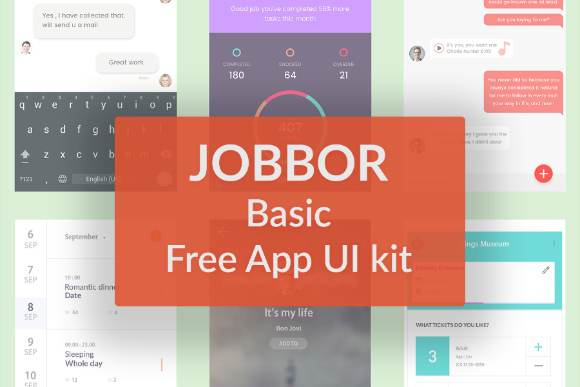 Jobbor Basic Free App Ui Kit