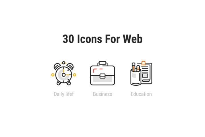 30 Free Vector Web Icons