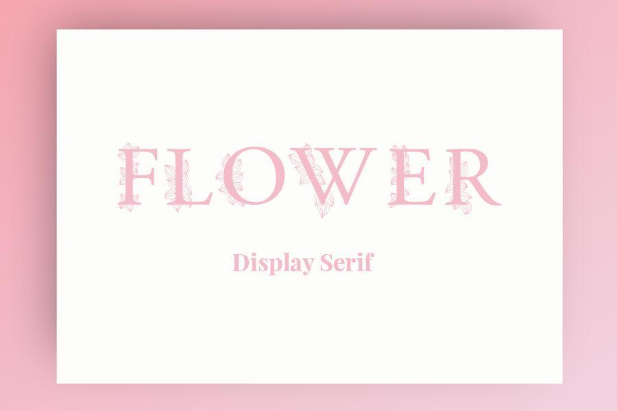 Flower Display Serif Free Typeface
