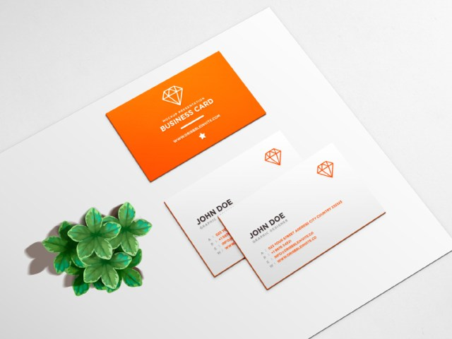 clean business card psd mockup free design resources