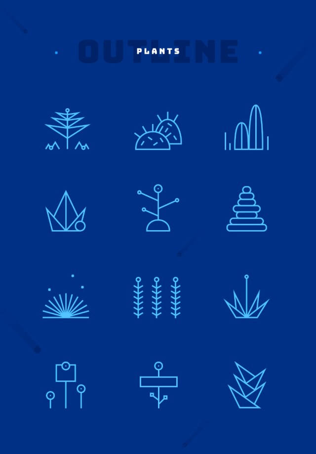Space Free Vector Iconography