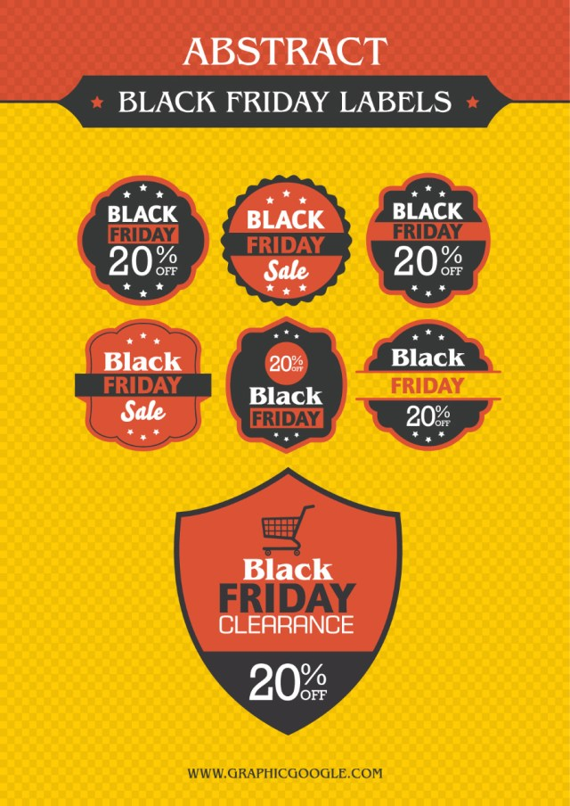 Free Black Friday Labels Designs
