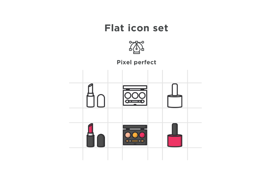 Free Cosmetic Vector Icons
