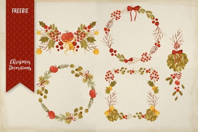 Free Handdrawn Christmas Decoration