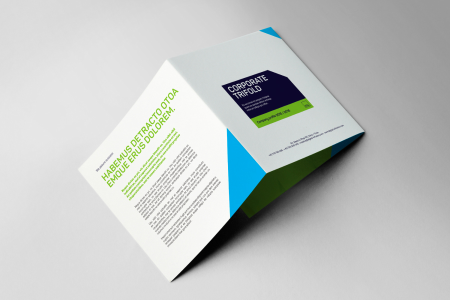 Free Corporate Square Trifold