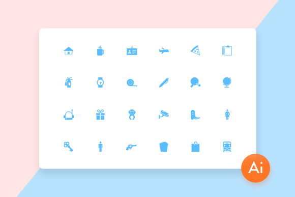 Mini Material Vector Icon Set