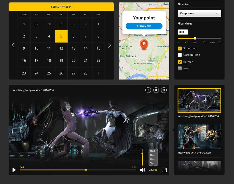Hero All Free PSD UI Kit – Free Design Resources