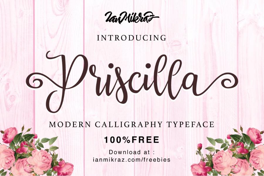 Priscilla Script Free Typeface