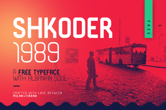 Shkoder 1989 Free Display Typeface