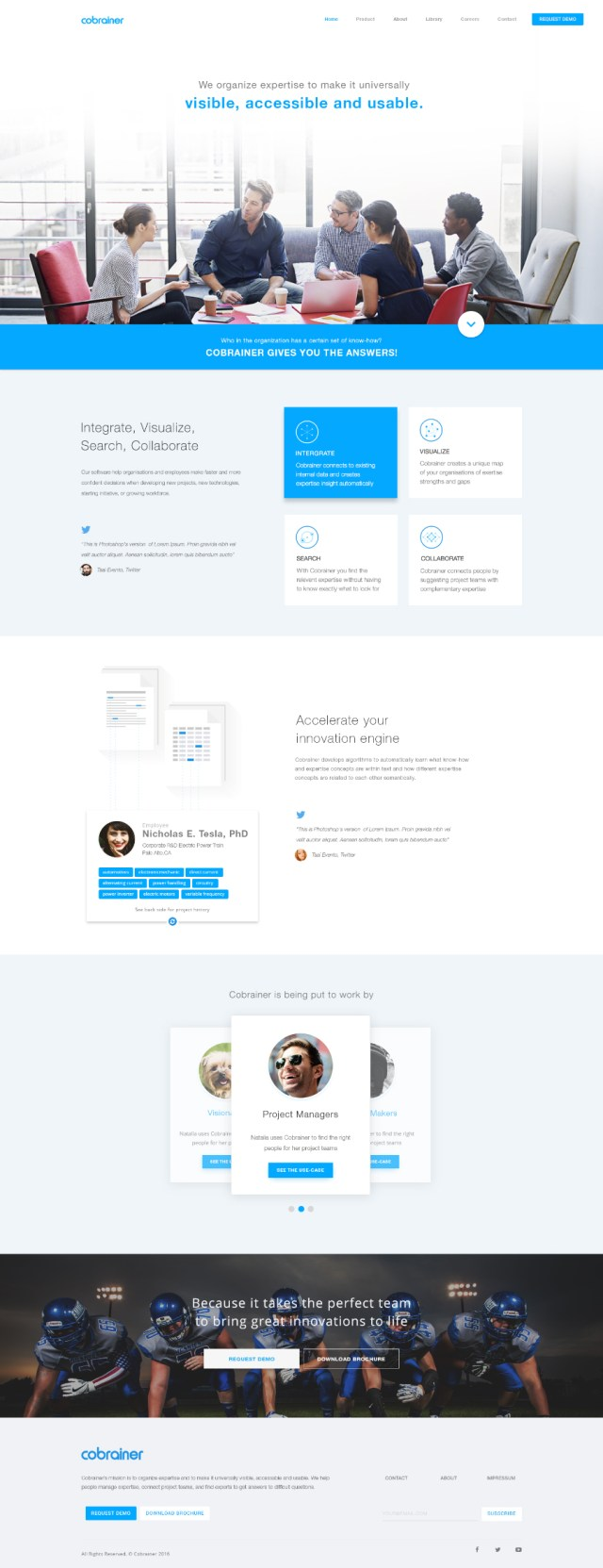 Clean Airy Free PSD Landing Page