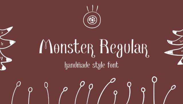 Monster Regular Free Font
