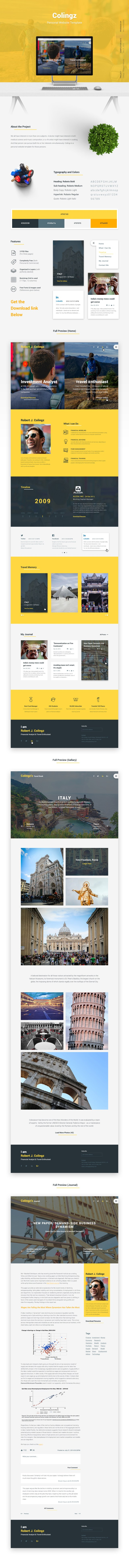 Colingz Personal Website Free Template