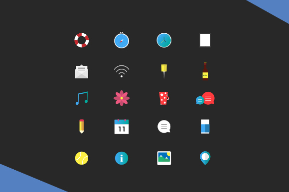 20 Free Vector Flat Icons