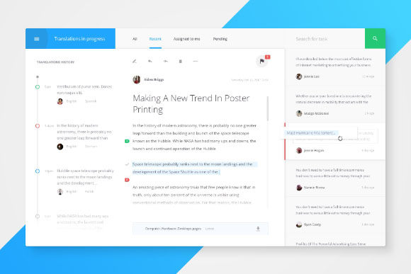 Translate Free Dashboard UI Kit