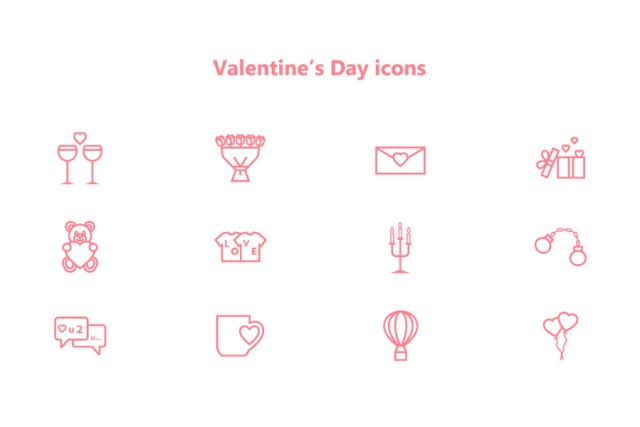 Valentine's Day Free Icon Pack