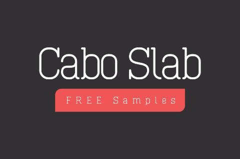 Cabo Slab Typeface Free Sample