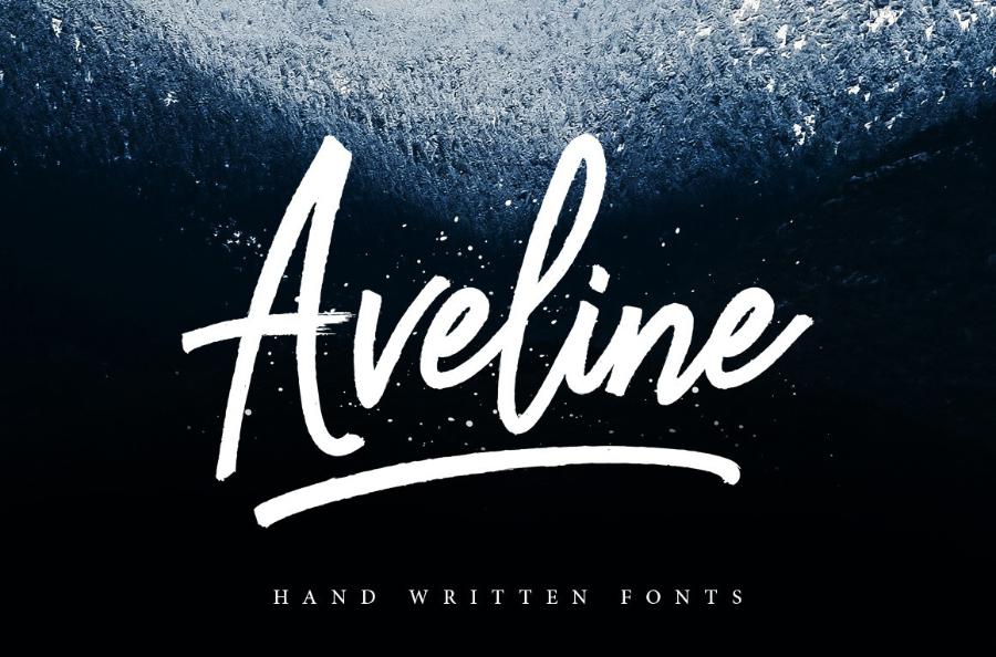 Aveline Brush Script Free Version