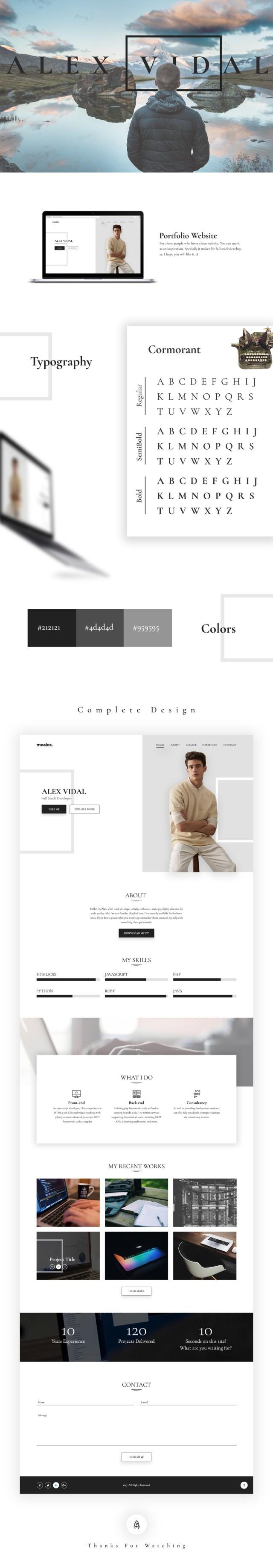 Alex Free Personal Portfolio Template