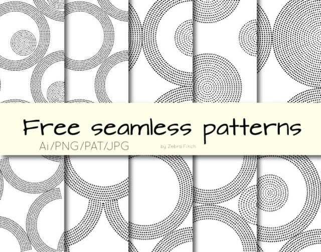 Free Dotted Circles Seamless Pattern