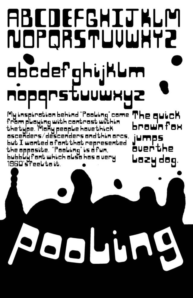 Pooling Display Free Typeface