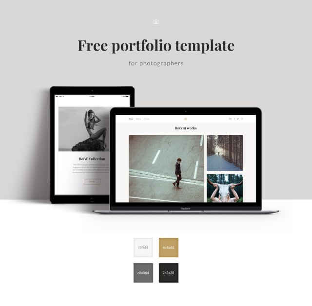 Free Photographer Portfolio Template Free Design Resources - Photography portfolio template