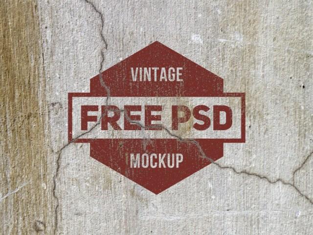 Grunge Texture Free Mockup