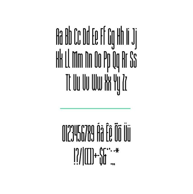 Prensa Free Condensed Typeface