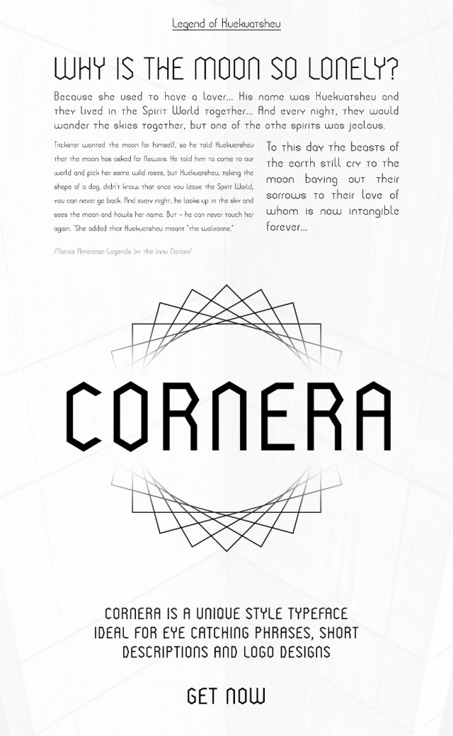 Cornera Display Free Typeface