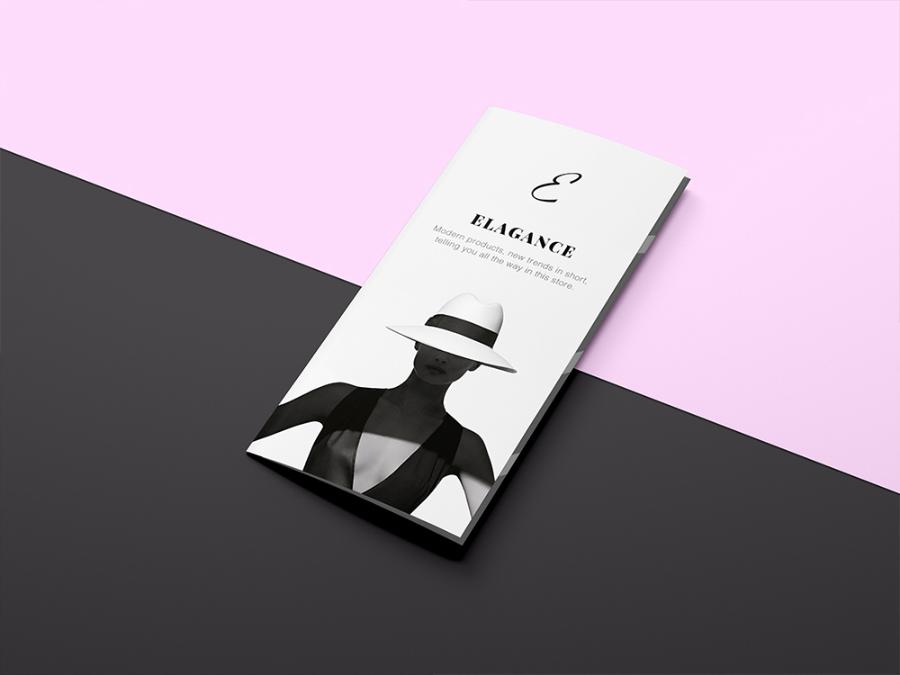 Fashion Trifold Mockup Sample