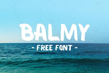 Balmy Brush Free Typeface