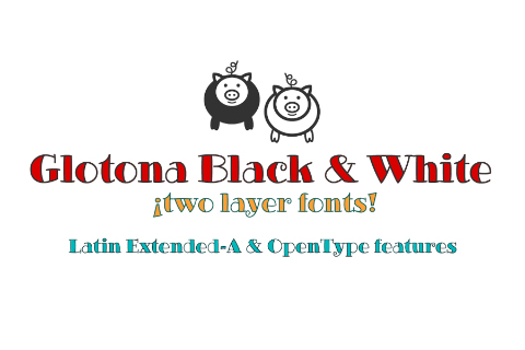 Glotona Black White Free Typeface